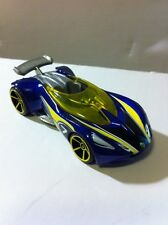 Hot Wheels Mattel Lotus Concept Dark Blue / Yellow Made in Malaysia Loose