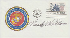 SIGNED WWII MOH WINNER HERSHEL WILLIAMS FDC AUTOGRAPHED FIRST DAY COVER