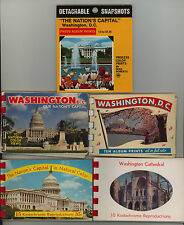 WASHINGTON DC * five small souvenir booklets * District of Columbia * folder lot