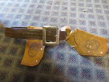 Vintage 1950's toy gun belt western cowboy plastic suede