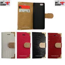 Bling Diamond Magnetic Flip Leather Wallet Case Cover For Various Samsung Phones