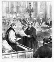 CONFIRMATION OF THE NEW ARCHBISHOP OF CANTERBURY IN BOW CHURCH, 1883, CHEAPSIDE
