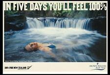 IN FIVE DAYS YOU'LL FEEL 100%  at KEROSENE CREEK ROTORUA POSTCARD - NEW ZEALAND