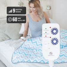 Electric Heated Blanket 150*180 cm, 2-Zone 9 Heating Modes Auto Shut-off Timer