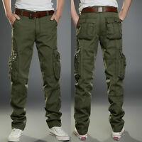 Combat Men's Cotton Cargo ARMY Pants Military Camouflage Camo ...