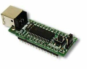 Microchip PIC18F2455 DIP module, USB-programmable