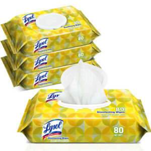 NEW, 3 Packages (80 ea) 240 Qty- Lemon and Lime Scent Lysl All Purpose Cleaner