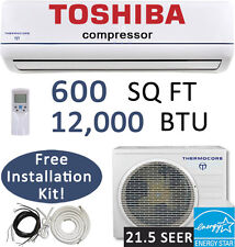 12000 BTU 21.5 SEER Inverter Ductless Mini Split Air Conditioner Heat Pump, 220V