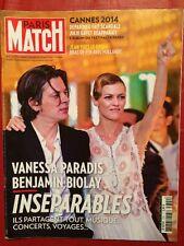 Paris Match 22/05/14 Vanessa Paradis Benjamin Biolay - Cannes 2014 - Bigard