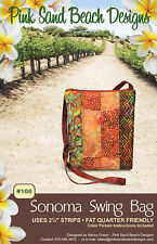 "SONOMA SWING BAG Purse Sewing Pattern by Pink Sand Beach Designs 8""x 8.75""x 1"""