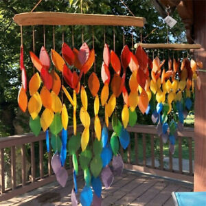 Rainbow Wind Chimes Outdoors Windchime for Garden Porch Yard Patio Outdoor