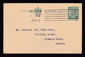 Scotland Aberdeen Cruickshank & McIntyre Iron Merchants ½d stationery card 1915