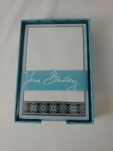 "Vera Bradley Loose Notes in Box - 5"" x 3.5"" - Blue Print - New & Free Ship"