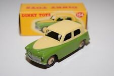 DINKY TOYS 154 HILLMAN MINX SALOON TWO TONE CREAM GREEN MINT BOXED RARE