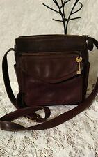Fossil Vintage Brown  Leather Crossbody Organizer Handbag Shoulder Bag Mint