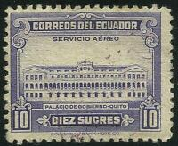 Ecuador A-219 1950 Service Aerial Palace Government Of Quito, MH