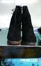 KELSI DAGGER Fortune Black Suede Ankle Boots size 9.5 NIB