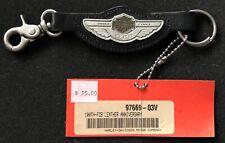 100th Anniversary Leather Stitched Harley-Davidson Keychain 2003