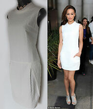 Karen Millen White Jacquard Low Waist Casual Evening Dress UK 16  EU 44  £145
