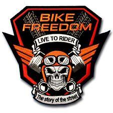 XL Size Bike Freedom Patch Iron on Chopper Biker Motorcycle Vest Racing Badge MC
