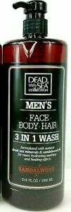 Dead Sea Collection Men`s Face Body Hair Wash Sandalwood 1000ml