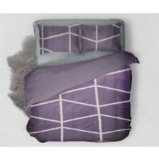 Hodeso Bedsheet Pattern Size With Pillow Cases Violet (Double)