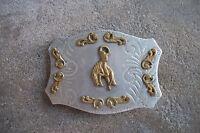 western BUCKING BRONCO belt buckle championship trophy cowboy rodeo ROCKMOUNT