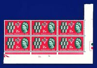 1962 SG631 2½d National Productivity Year Cylinder Block (6) 1D1B Dot MNH aphj