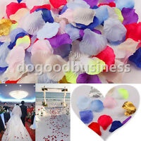 500pcs Artificial Silk Rose Petals Wedding Flowers Table Confetti Party Decor