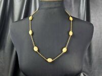 Lovely Vintage Jewellery Faux Opal Lucite Chain Link Necklace Signed SO