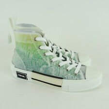 Kim Kardashian West DIOR Green and White Graphic High Top Sneakers Size 39 NEW