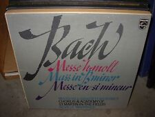 MARRINER / BACH mass in b minor ( classical ) 3lp box philips