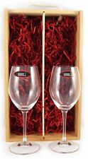 Deux vin blanc Riedel verres cristal