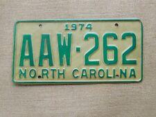 American number licence plate North Carolina vintage old car genuine USA 2