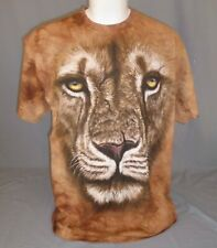 The Mountain Big Face Lion Warrior Tie Dye T-Shirt Adult Size Extra Large XL