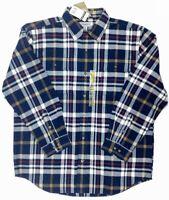 Carhartt Mens Original Fit Long Sleeve Plaid Shirt Size L-2XL Blue
