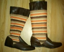 Real leather and knitted calf boots by FAITH. Sz 4. Exc.C