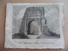Triumphal Arch Of Titus In Rome, (Adam Clark) Antique Print 1816 Craig. Goodall.