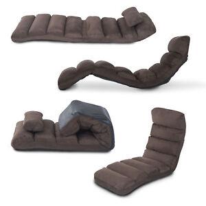 HOMCOM Lounge Sofa Bed Adjustable Floor Sleeper Chair Seat Chaises