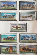 1968 Hungary Full Set Of 9 Stamps - Hungarian Horsebreeding - PC/NH