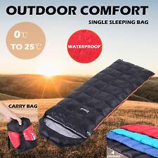 Single Camping Sleeping Bag Envelope Thermal Hiking Sleeping Gear Duck Down