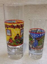 2 Tall Shot Glasses Spirits by Vincent VanGogh Vodka Chocolate&Wild Appel 160442