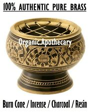 Small Decorated 100%PURE Brass Charcoal Screen Cone Incense/Resin/Bakhour Burner
