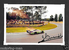 Porsche 917L 917 gerard larrousse signé dédicacé photographie le mans 24 1970