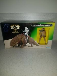 Star Wars The Power of the Force Dewback and Sandtrooper Kenner 1997 New In Box