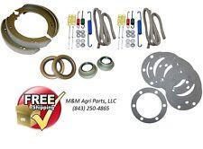 Ford 9N 2N Tractor Brake shoe repair kit w/ shoes, brake hardware & axle seals