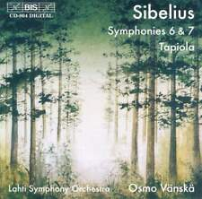 Sibelius: Symphonies Nos. 6 & 7 & Tapiola - Osmo Vanska (CD, 1996, BIS (Sweden))