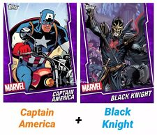 Topps Marvel Collect - Purple Fusion CAPTAIN AMERICA / BLACK KNIGHT *Digital