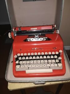 Red Royal Quiet Deluxe Typewriter