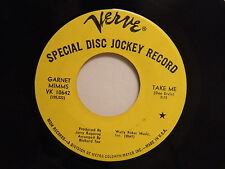 Garnet Mimms dj 45 TAKE ME / HAPPY LANDING ~ Verve VG+ soul